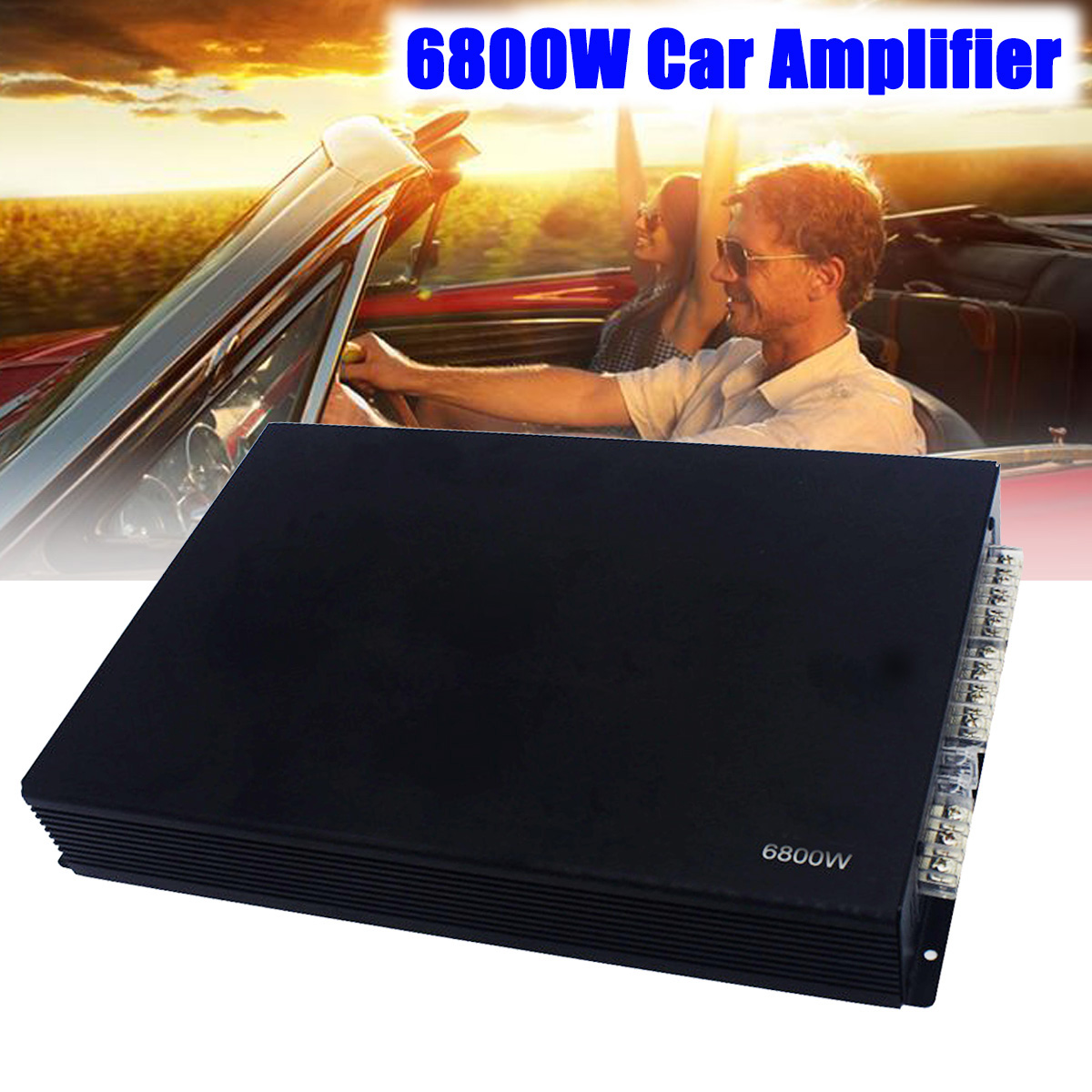 6800W Car Amplifier 4 Channel Bridgeable Car Audio Stereo Subwoofer Amplifier Truck Class AB Aluminium Alloy Car Amplifier hifi class bluetooth 4 2 audio receiver amplifier car stereo modify support aptx low delay