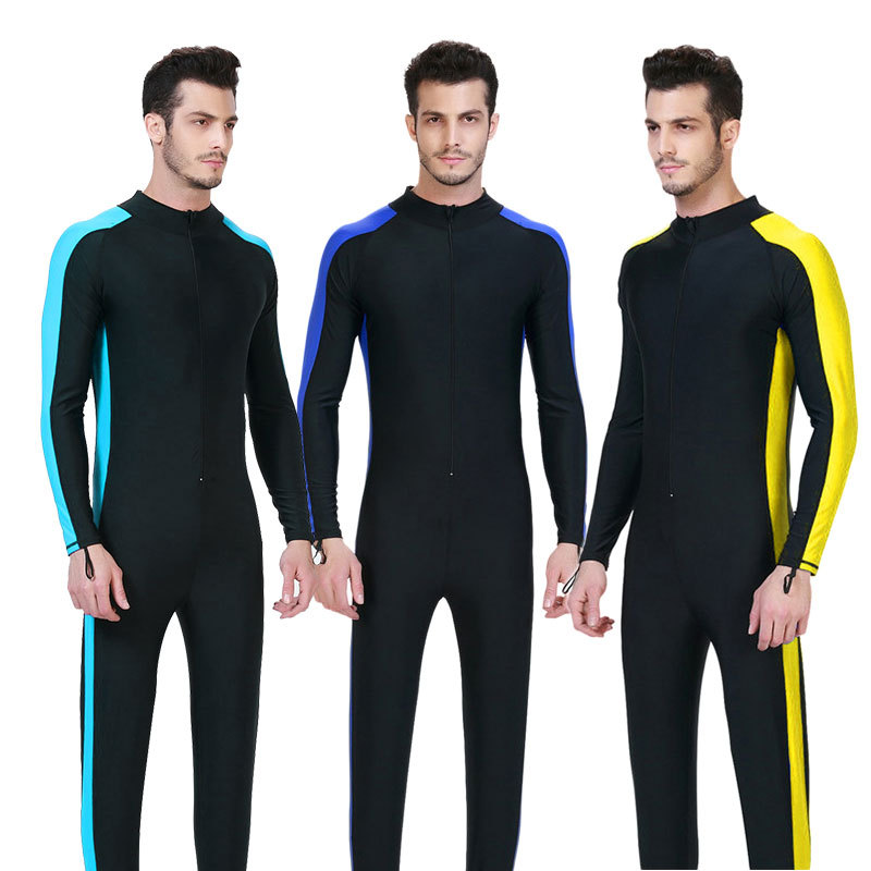 e8c6d5a798 Men full body swim lycra dive skin 4XL wetsuit long sleeve swimsuit  spearfishing scuba diving suit dress rash guard-in Wetsuit from Sports    Entertainment ...