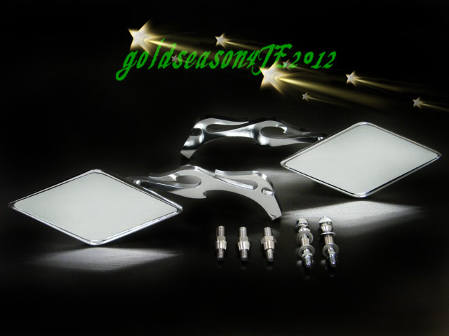 For Yamaha Road Royal V Star Warrior XV Virago VMax VStar Freeshipping CHROME FLAME MIRRORS стоимость