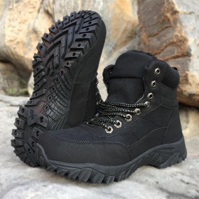 Men's Winter Tactical Shoes  Men Outdoor Hiking Shoes Trekking Boots Man Climbing Mountaineering Adventure Winter Hunting Shoes camssoo men s winter outdoor trekking hiking boots shoes for men warm leather climbing mountain boots shoes man outventure