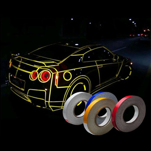 45m car styling reflective tape funny diy stickers automotive car body motorcycle wheel hub rim stripe
