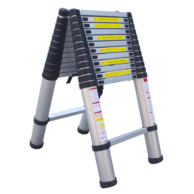 thick aluminum telescopic ladder household word ladder folding lifting attic stairs high bamboo ladder
