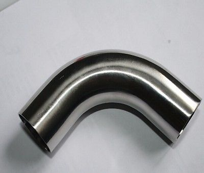 25mm O/D 304 Stainless Steel Sanitary Weld 90 Degree Elbow Tube Butt Pipe Fitting Straight pipe length 20mm