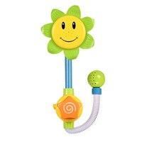 ベビーバスおもちゃひまわりシャワー蛇口風呂学習ギフト浴室浴槽のおもちゃ遊びセット早期教育のおもちゃ色ラン