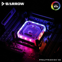 Barrow CPU Water Block use for Intel X99 X299 Socket LGA2011 2066 Acrylic RGB Light to 5V 3PIN GND AURA Copper Radiator