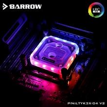 Barrow CPU Water Block use for Intel X99 X299 Socket LGA2011 2066 Acrylic RGB Light to 5V 3PIN GND AURA Copper Radiator