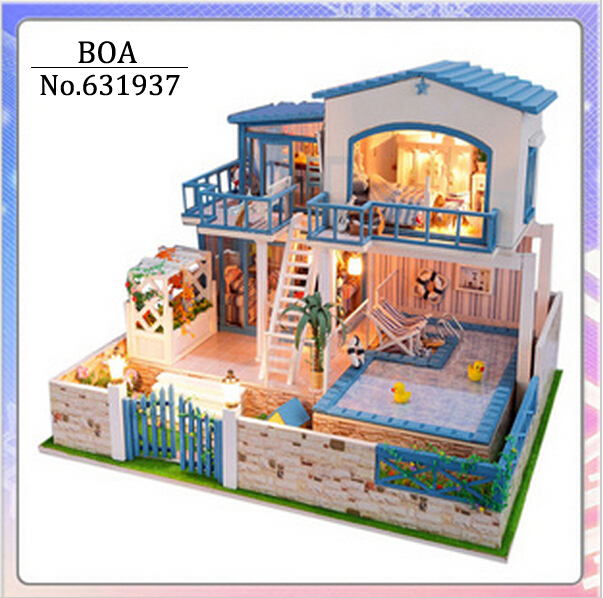 Diy Doll House 3D Miniature Model Building Kits Wooden Handmade Dollhouse Toy Birthday Greative Gift-You Are Come Form The Star new arrive diy doll house model building kits 3d handmade wooden miniature dollhouse toy christmas birthday greative gift