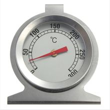1pcs Stainless Steel Oven Thermometer Cooker Thermometer Grill Food Meat Thermometer Adjustable Stand Up Hange thermomer 0 100 degree length 10 cm bimetallic thermometer wss 411 stainless steel disc industrial boiler thermometer radial