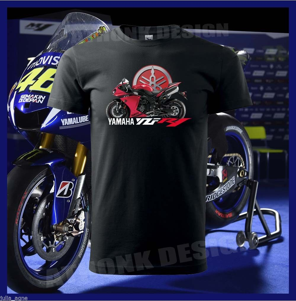 2018 Hot Sale RED YZF R1 SUPERSPORT MOTORCYCLE Fans T SHIRT O Neck YZF R1  TEE SHIRT 100% Cotton Tee Shirt-in T-Shirts from Men's Clothing &