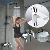 GAPPO Shower system griferia brass water tap chrome bathroom faucets mixer shower set with basin faucet torneira do anheiro