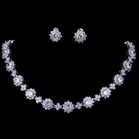 Conjuntos de Jóias de Moda de Nova Forma de Flor Conjuntos de Jóias para o Casamento Bettyue Marca Multicolor Zircon Personalidade Mulher Charme Presente Aaa