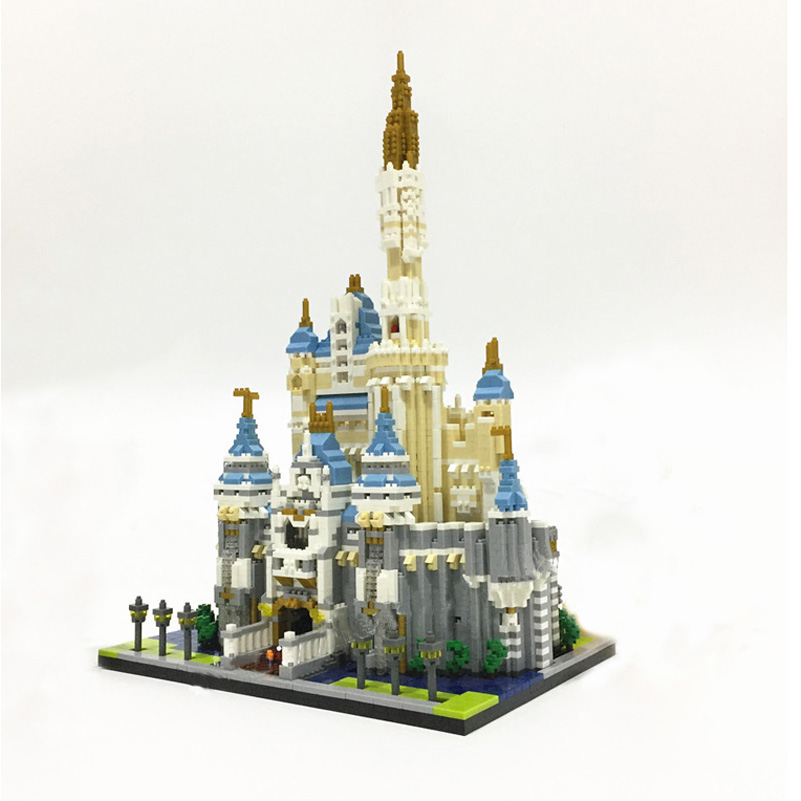 Princess Castle Model Block Toys Movies Series City Education Assembled Gifts For Children Compatible Building Blocks Set ynynoo lepin 16008 cinderella princess castle city model building block kid educational toys for children gift compatible 71040