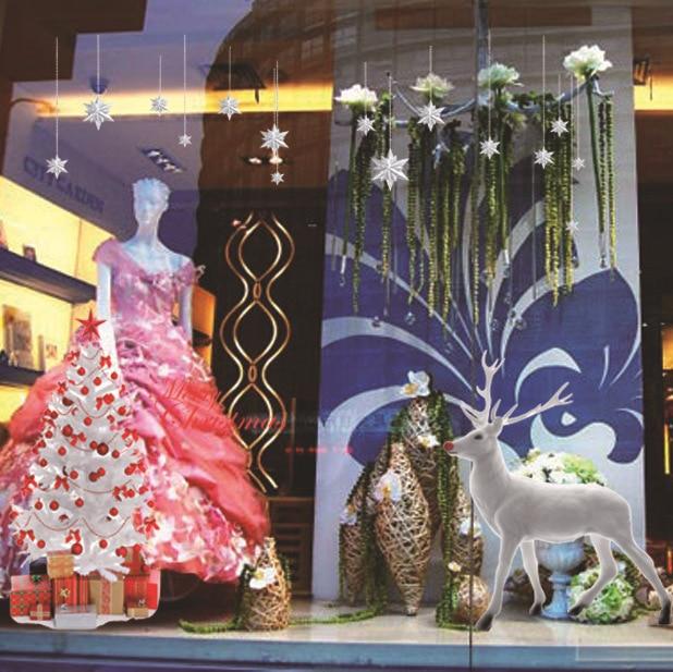 2018 Top Fashion Festival Stickers Stickers Direct Three-dimensional Composite Elk Christmas Stick Decoration Shop Window