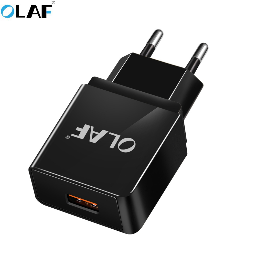 OLAF USB Charger 18W Quick 3.0 Mobile Phone Charger for iphoe X 8 EU Plug Wall Charger Adapter Power Charging for Samsung HTC