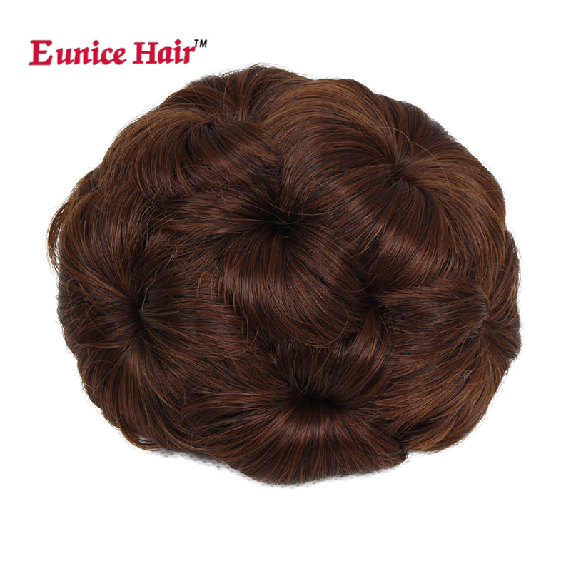 Eunice Syntetisk Curly Chignon Bun Hairpiece # 2 / # 4 / 99j / 33 - Syntetiskt hår - Foto 6