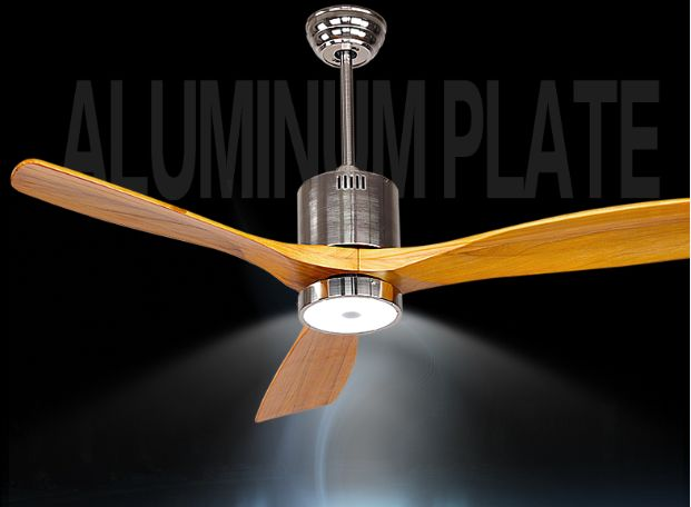 Antique ceiling fan light fan light with remote control minimalism     Antique ceiling fan light fan light with remote control minimalism modern  fan style LED lamp solid 3 wooden blades 52inch in Ceiling Fans from Lights