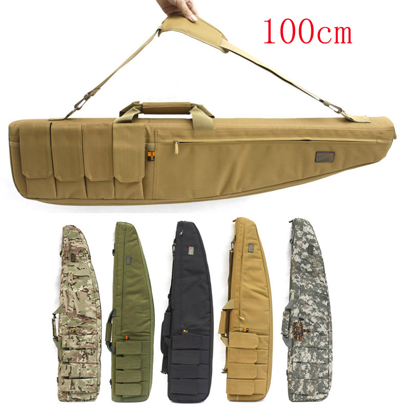 Tactical 100 cm Bisel Caso Lleva el Bolso Rifle resbalón del Arma bolsa de hombr
