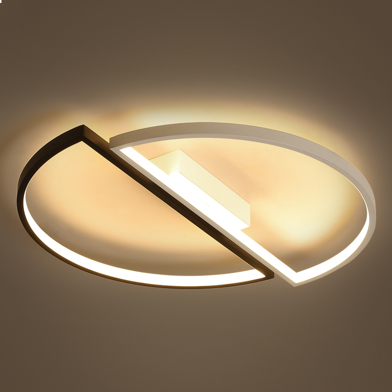 Image 2 - modern led ceiling lights For Living room dining room bedroom warm  creative study personality simple round ceiling lamp-in Ceiling Lights from Lights & Lighting