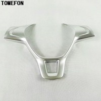 TOMEFON ABS Chrome Matte Steering Wheel Decorative Interior Mouldings For Volkswagen VW Golf 6 Golf 7