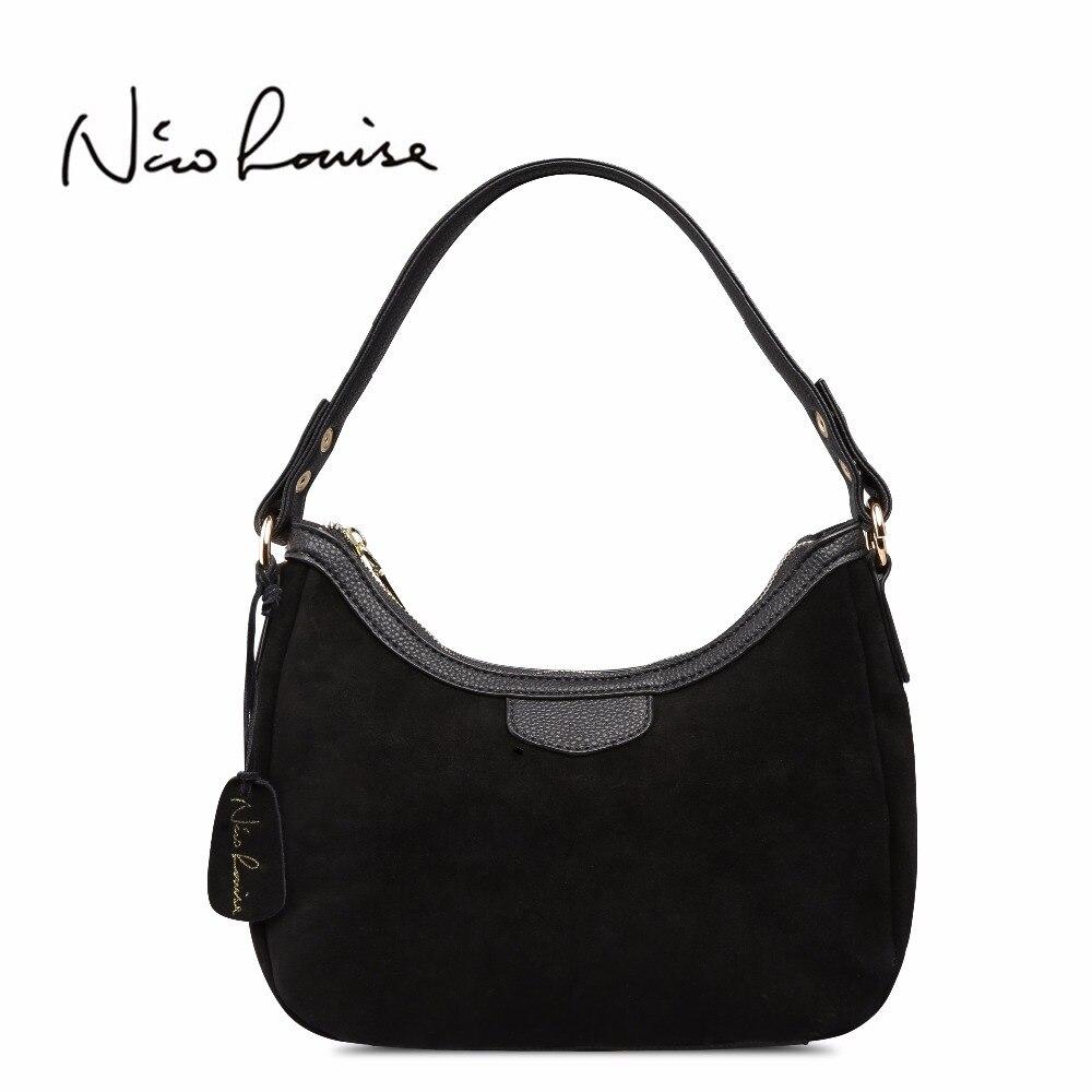 2018 Новый Для женщин из натуральной замши небольшая сумка бренд женский досуг cossbody Хобо сумочка для леди Blosa топ- ручка Сумки