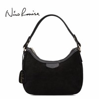 2018 New Women Real Suede Leather Small Shoulder Bag Brand Female Leisure Cossbody Hobo Handbag For