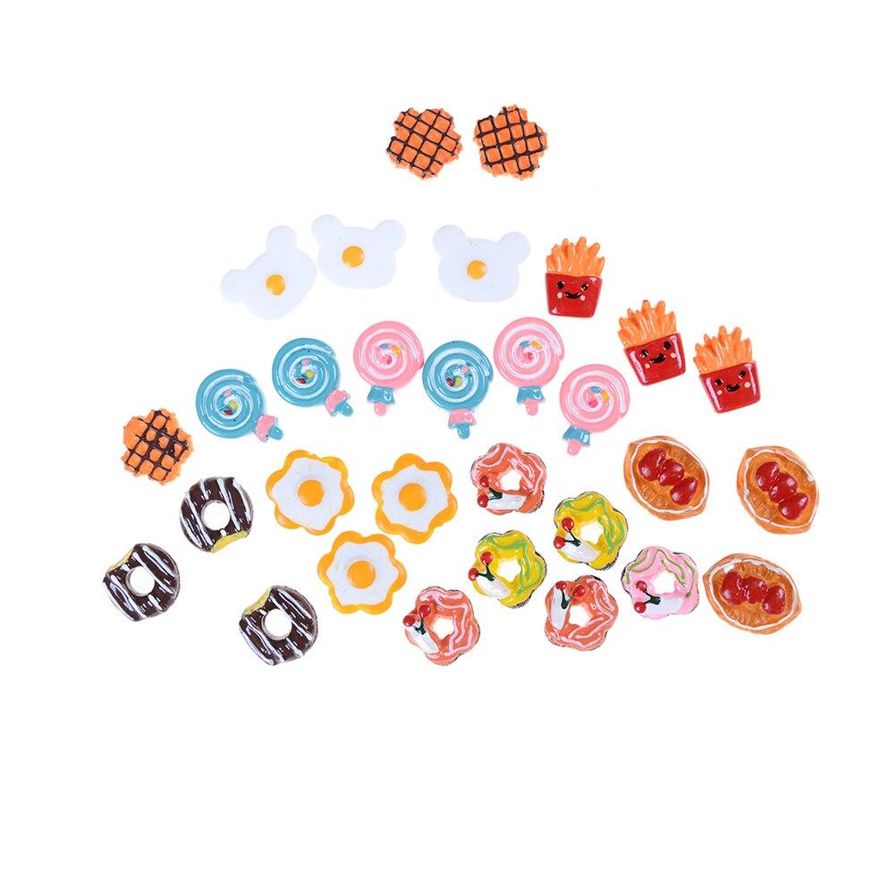 5pcs DIY Craft Mini Poached Eggs Food Ornament Simulation Toys Dollhouse Decor Random