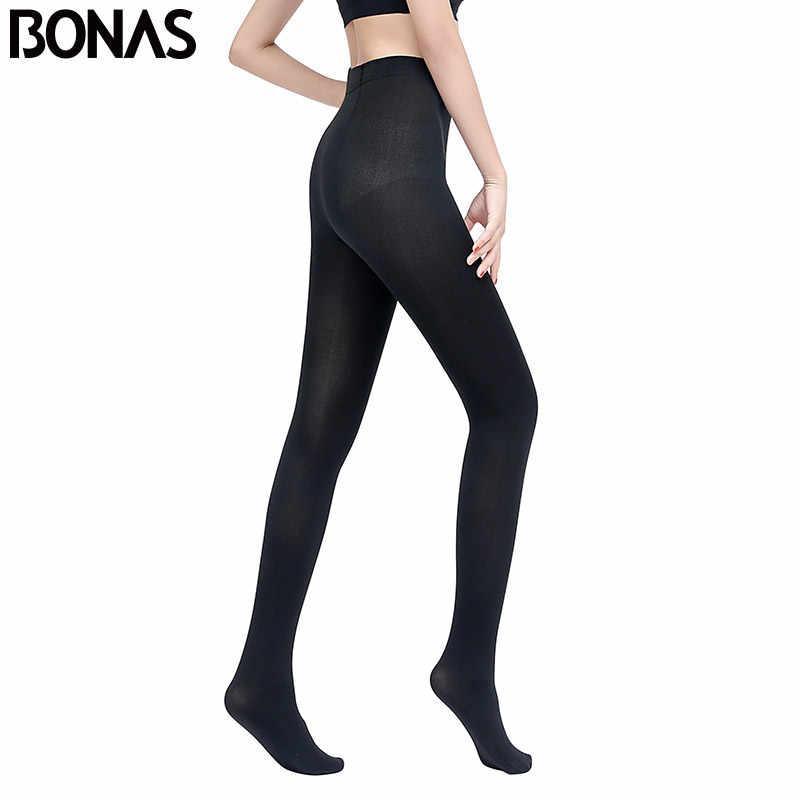 Bonas 女性冬暖かいタイツ高弾性プラスサイズ秋のストッキング女性のセクシーなスリム collant ファム legins 女性のストッキング