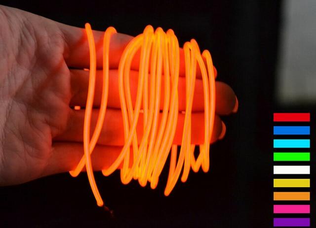 Online shop aa battery powered m scene lights colors el wire