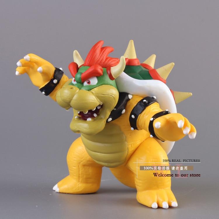 Бесплатная доставка Super Mario Bros BOWSER ПВХ фигурку Модель игрушки SMFG230