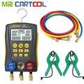 Mr Cartool HVAC вакуумный прибор для измерения температуры и давления тестер утечки холодильные инструменты цифровой манометр зажимной зажим тру...
