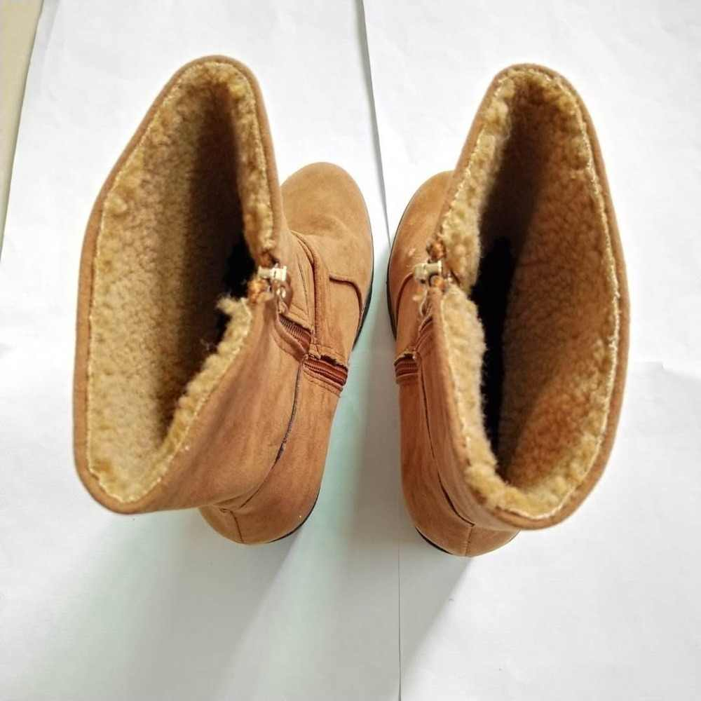Kadınlar Casual Sıcak Pompaları Ayak Bileği Martin Çizmeler Ayakkabı Sonbahar Kış Seksi Kadınlar Yay Yüksek Topuklu Elbise Kar Botları Botas mujer
