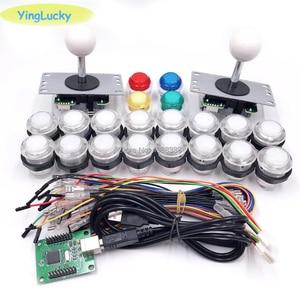 Image 5 - อาเขต DIY ชุดอะไหล่ 5Pin จอยสติ๊ก + 2x24 มม. + 8x30mm 5 V LED Illuminated ปุ่ม xin mo Zero Delay USB Encoder To PC