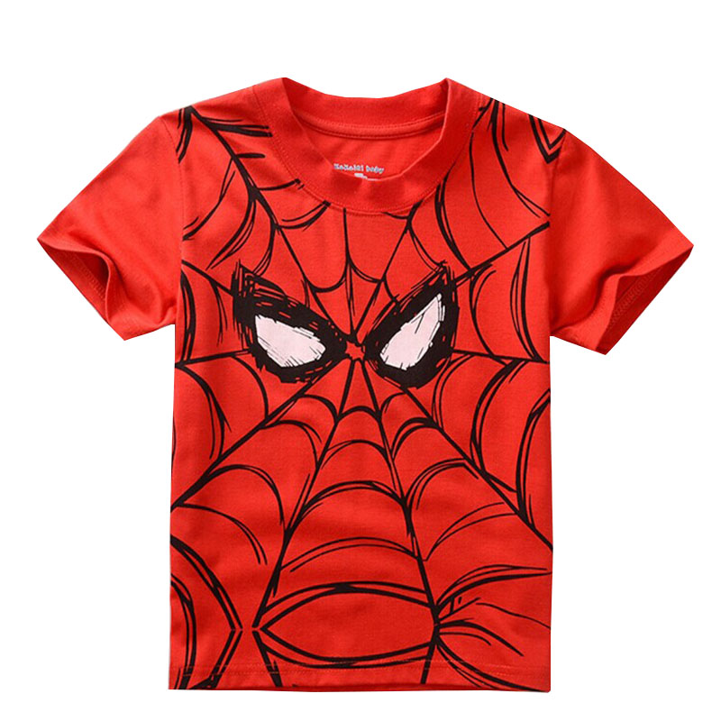 2018 children T shirt for boys Popular Hero Print Kids Baby Boy Tops Short Sleeve T-Shirt Summer childish C Tee