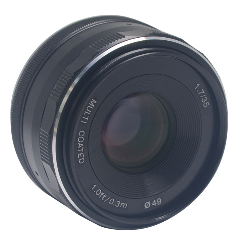 Mcoplus Meike 35mm f1.7 Prime Fixed Manual Focus Lens large Aperture for Canon EF-M Mount Mirrorless APS-C EOS Camera  M1 M2 M3 meike 12mm f 2 8 wide angle fixed lens with removeable hood for panasonic olympus mirrorless camera mft m4 3 mount with aps c
