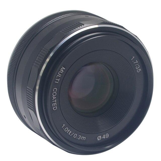 mcoplus meike 35mm f1 7 prime fixed manual focus lens large aperture rh aliexpress com Canon EF Lenses Family canon ef mount manual focus lens