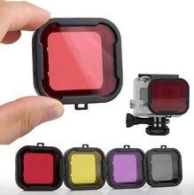 Фото и видео камеры фильтра объектива дайвинг фильтр go-pro hero 3 + 4 корпус для камеры подводный объектив конвертер бесплатная доставка