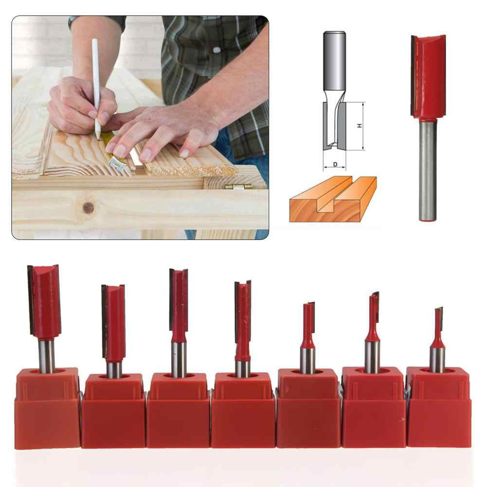 1/4 Inch Shank Woodworking Double Flute Blade Straight Router Bit Carving Woodworking Trimming Router Bit