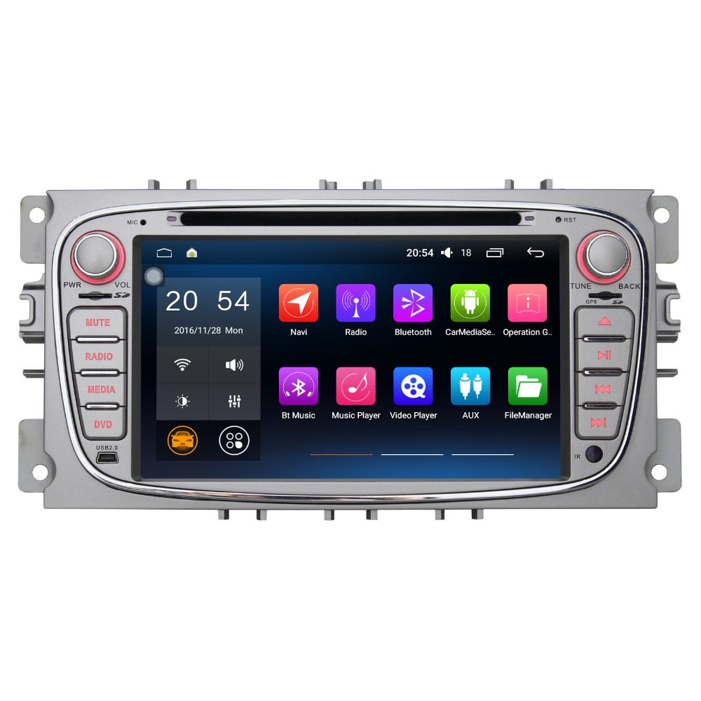 7 Inch Android 6.0 Car Multimedia Player For Ford Mondeo 2007-2009 Without DVD Car Stereo Free Map Car Audio With Canbus