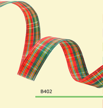100yards/roll 5/8 Inch(15mm) England Christmas Tartan Ribbon