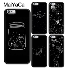 MaiYaCa Aesthetic Space Stars Planet Phone Case For iPhone XR XS Max TPU Cover iphone 6 6S 7 8 Plus X 5S SE Coque Funda