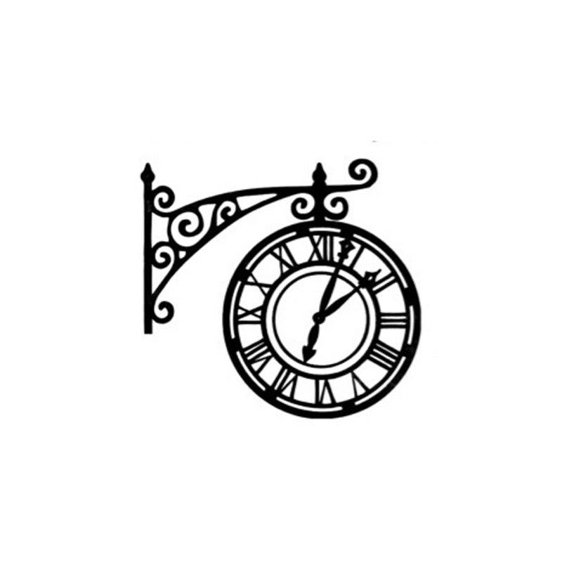 1 PCS Vintage Wall Clock Decoration Stamp DIY Self Inking