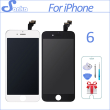 Хорошее Санька AAA для iPhone 6 Экран ЖК-дисплей Touch Экран Дисплей планшета Ассамблеи Замена Ecran Pantalla ЖК-дисплей мобильного телефона Запчасти инструменты