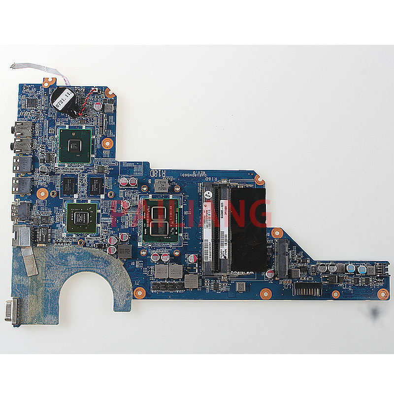 PAILIANG Laptop motherboard for HP G4 G6 G7 PC Mainboard HM55 655985 001 DAR18DMB6D1 tesed DDR3