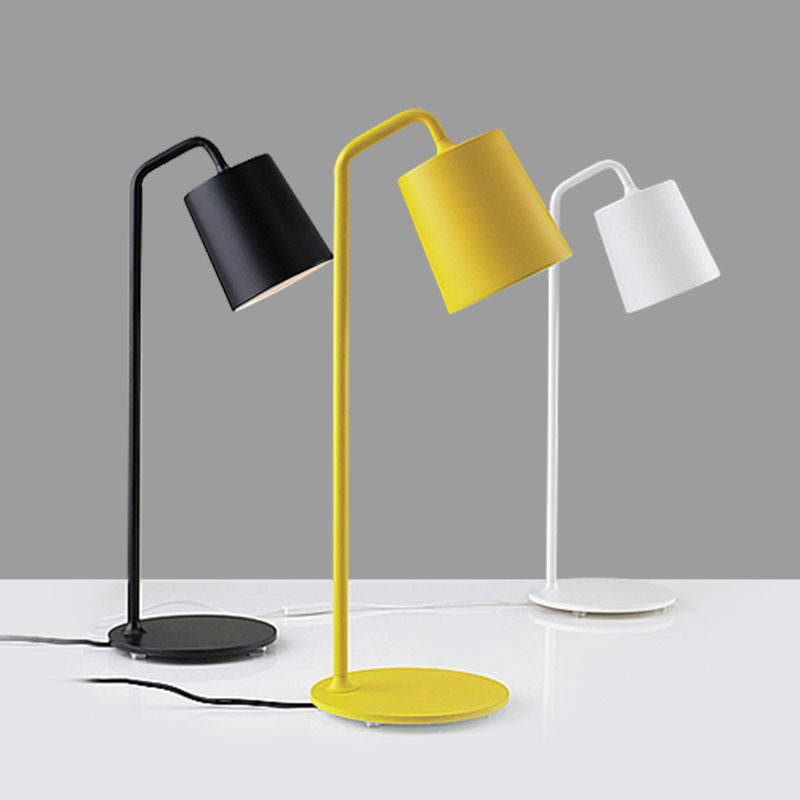 buy modern yellow white black wrought iron bedside reading lamp minimalist. Black Bedroom Furniture Sets. Home Design Ideas