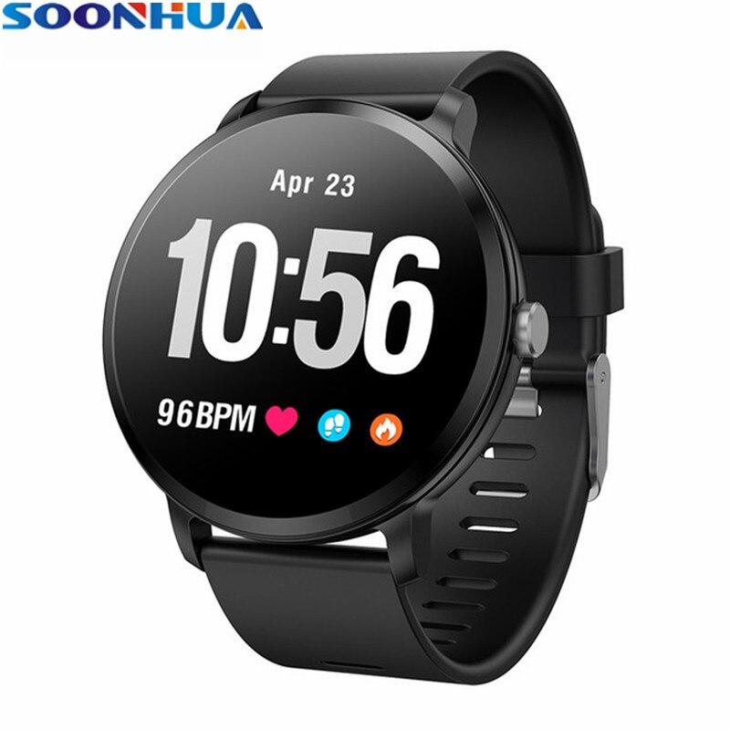 SOONHUA V11 étanche sport montre intelligente fréquence cardiaque pression artérielle moniteur de sommeil Messages appels rappel Smartwatch pour téléphones