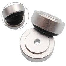 Mayitr 4 Uds de aluminio Pie de soporte con almohadilla de aislamiento para DAC tocadiscos CD amplificador de Radio 20x8mm