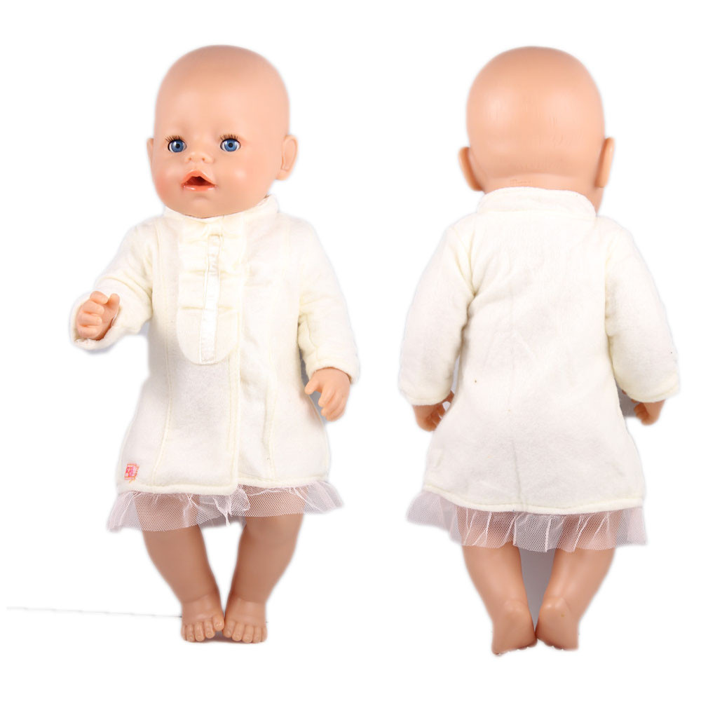 Give A Sight in White 1 white ruffle pea coat, American Girl Doll Clothes Children Best Chrismas Gift
