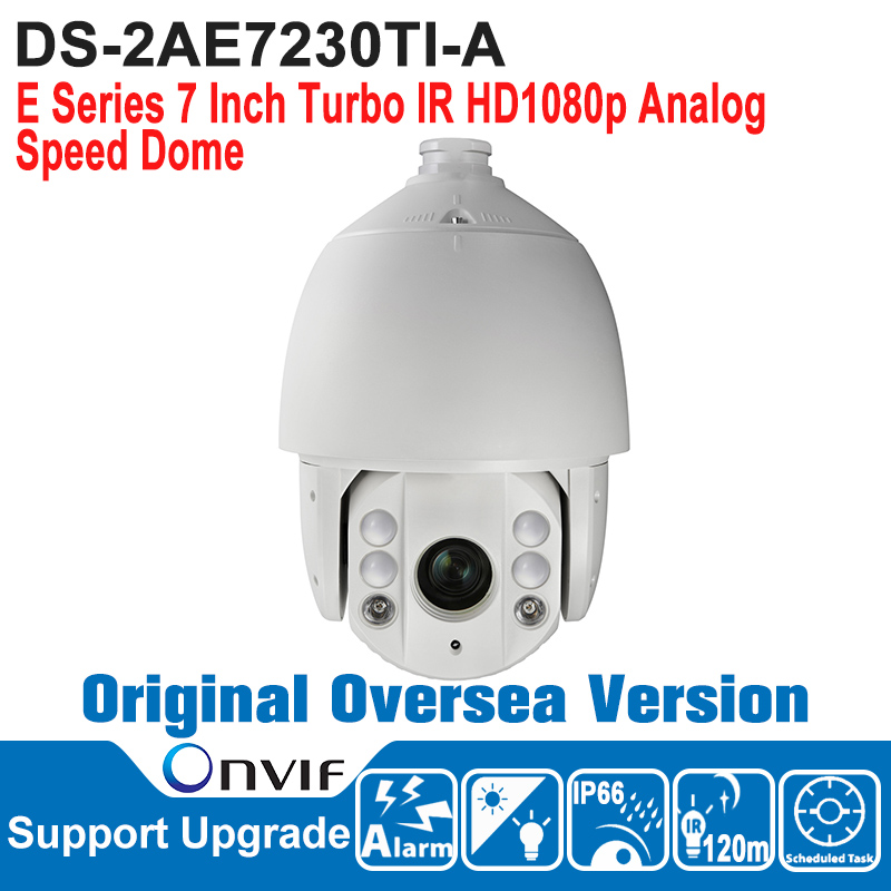 DS-2AE7230TI-A HIK Speed Dome Camera 2MP PTZ Camera 7 Inch Turbo IR HD1080p Analog Speed Dome Camera Outdoor IP66 ONVIF english firmware ptz camera ds 2de7184 a 2mp hd 1080p ptz speed dome camera ip66