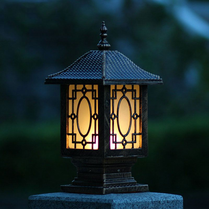 Fence wall lamp waterproof post column headlights outdoor garden lights WCS-OCL0012 ...