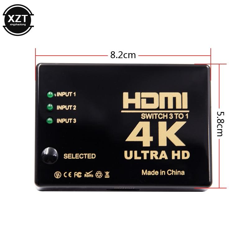 1PCS 3 Port 4K 2K 1080P Switcher HDMI Switch Selector 3x1 Splitter Box Ultra HD for 1PCS 3 Port 4K*2K 1080P Switcher HDMI Switch Selector 3x1 Splitter Box Ultra HD for HDTV Xbox PS3 PS4 Multimedia HOT sale